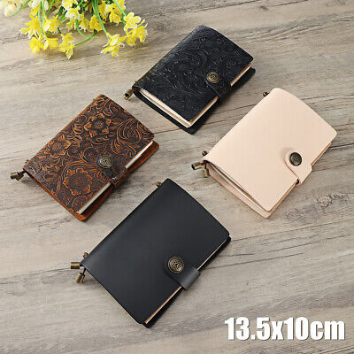 Vintage Leather Notebook Embossed Journal Blank Paper Diary Book Travel Notepad