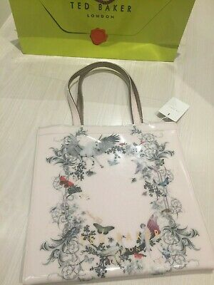 TED BAKER London Enchanted Dream Large Pale Pink PVC Icon Tote Shopper Bag  New