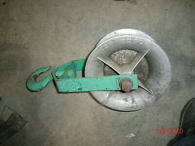 "Greenlee 651 Hook Sheave, 4000 lbs Capacity, 12"", used"