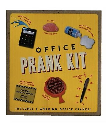 New Office Prank Kit 6 Joke Pranks Novelty Fun & Games Pranking Gift Set