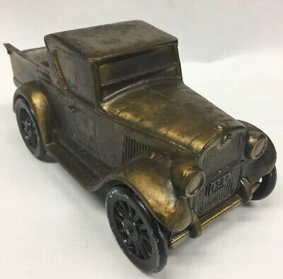 Vtg Coin Bank BANTHRICO Brass Metal Still 1928 Chevy Pickup Truck (1974) Chicago