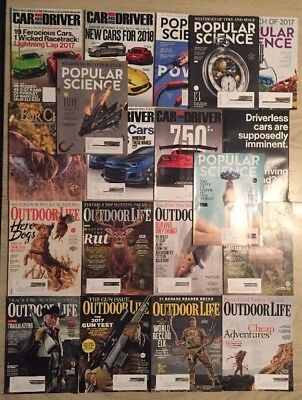 Magazine Lot - CAR & DRIVER + OUTDOOR LIFE + POPULAR SCIENCE