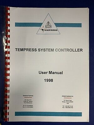 Tempress System Controller User Manual 1998, Used