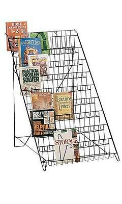 Floor Standing Wire Rack - Black Display Books Magazines Cards pamphlets - New