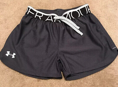 Under Armour Girls Athletic Short Charcoal Size Youth Medium