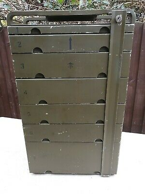 Vintage Military USA Mobile Dentistry Cabinet Circa 1968/72 Very Good Condition