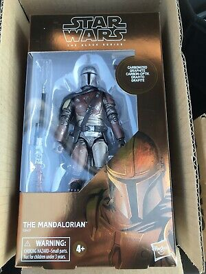 "Hasbro Star Wars Black Series The Mandalorian 6"" Carbonized Action Figure INHAND"