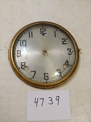 Antique Gilbert Tambour Mantle  Clock Dial And Bezel With Glass