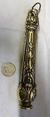 Toilet cistern pull light pull c1910 cast brass Vintage Antique Old French Super