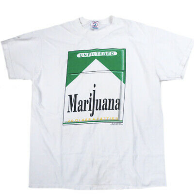 Vintage Marijuana T-Shirt 1997 Weed Pot Smoke Joint Blunt Stoner Stoned