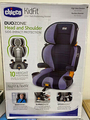 Chicco KidFit 2-in-1 Belt-Positioning Booster Car Seat, Celeste - NEW