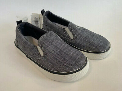 Gap Kids Boys Shoes Slip Ons Size 8 Toddler Blue Chambray Casual NEW