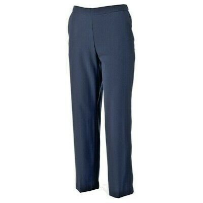 NEW Briggs 18W Slimming Solutions Navy Pull-On Pant Tummy Control Straight Leg