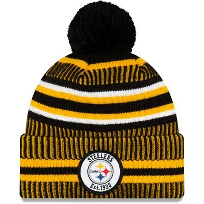 Men's Pittsburgh Steelers New Era Black/Gold 2019 NFL Sideline Official Hat