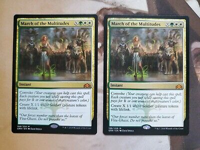 Guilds of Ravnica March of the Multitudes NM English MTG Magic FLAT RATE SH