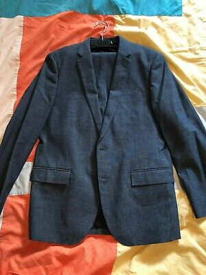 J Crew Ludlow Slim Men's Suit Size 42R 33/32 Japanese Chambray New With Tags NWT