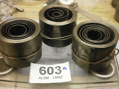 3 Clock Mainsprings Fusee 41-44 mm secondhand parts wall skeleton bracket 603A