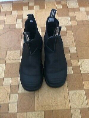 Blundstone 168 Work & Safety Boot Rubber Toe Cap Black, Size 10US/9UK