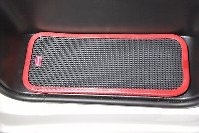 Fiat Ducato/Peugeot Boxer 2007 On Rubber Cab Step Mats With Red Pvc Edging