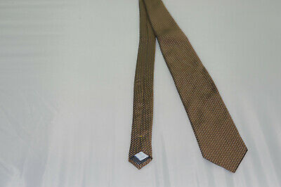 "BRIONI NWT $230 STRIPED GEOMETRIC NARROW 100/%SILK TIE MADE IN ITALY W3.125/"" L59/"""