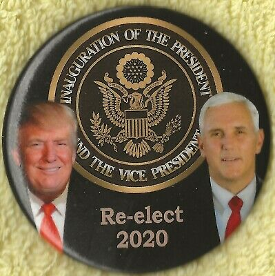 "2020 Donald Trump & Mike Pence 2.25""/ ""Presidential Seal"" Campaign Button(Pin40)"