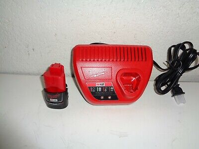 {1} Milwaukee M12 12-Volt Lithium-Ion 2.0 Ah Compact Battery Pack And Charger