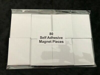 80 Block Pack Self Adhesive Magnets Make Own Fridge Magnet, Stick to Invitations