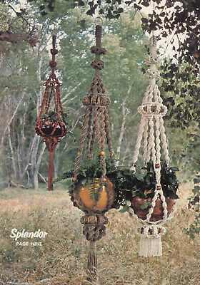 Make These Vintage Macrame Plant Hangers  - Pattern Only - In Pdf Format