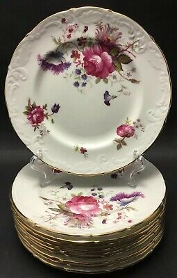 PARAGON ENGLAND ROSEALEE 5 Side Plates~Bread & Butter~Roses~Floral Sprays~Gold