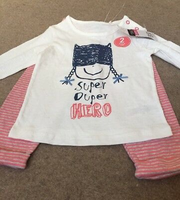 Bnwt Next Baby Girls Two Pice Set Age 3-6 Months