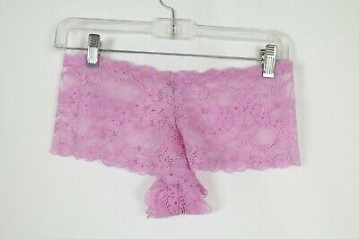 NWOT Pink Floral Lace Panties Shorts Sexy Size XL