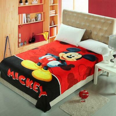 Throws Flannel Blanket Mickey Mouse Soft Silky Bedding Rug 150*200CM