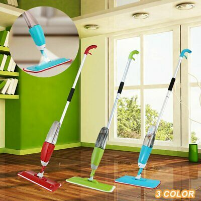 Spray Mop Water Spraying Floor Cleaner Tiles Marble Kitchen 600Ml Micro Fibre #T