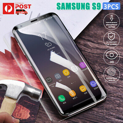 3X 6D Samsung Galaxy S8 S9 S10 Full Curved Tempered Glass Screen Protector Clear