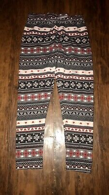 Faded Glory Youth Girls Multicolor Leggings Pants Size M (7/8) Polyester Spandex