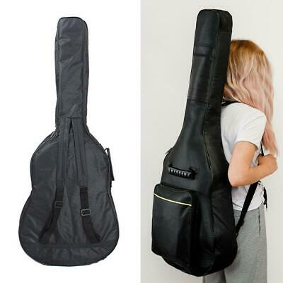 New Black Padded Full Size Acoustic Classical Guitar Bag Case Cover High Quality