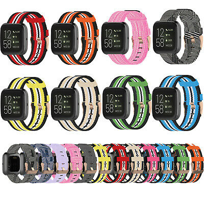 For Fitbit Versa 2/Lite Nylon Band Strap Sport Replacement Watch Wristband Bands
