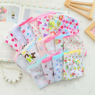 Baby Briefs Lovely Girls Cartoon Underpants Soft Underpant Cotton Pack