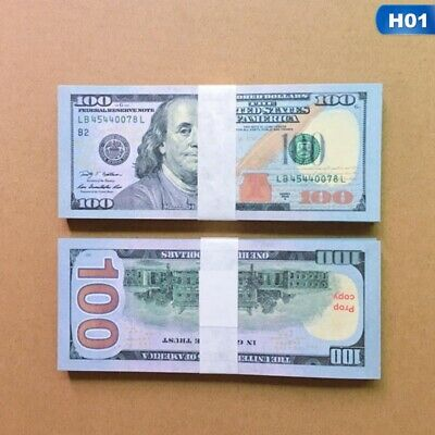 100Pcs New Version USA Banknote 100Dollar Trick Toy Party Paper Prop Toy