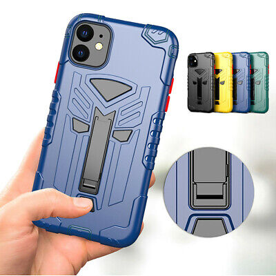 Armor Rugged Hybrid Soft Stand Case Cover For iPhone 11 Pro Max XS XR X 7 8 6S 6