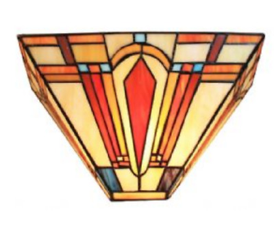 Tiffany Style Wall Lamp Night  Uplighter Lamps Stained Glass Handcrafted Light