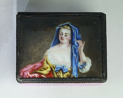 English enamel snuff box with well painted portrait, c. 1770