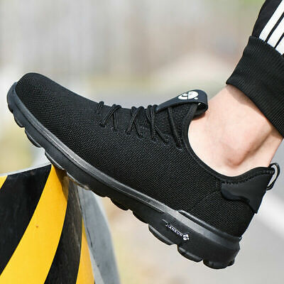 Safety Shoes Toe Steel Trainers Boots Mens Sneakers Shoes Sports Hiking Work UK