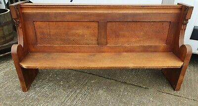 Antique Solid Oak 6ft Church Pew - Hall/Porch Seat- Kitchen Bench!!