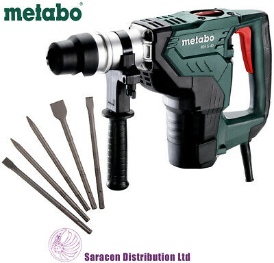 METABO KH 5-40 SDS MAX COMBINATION HAMMER, 240v & SDS MAX CHISEL SET - 600763500