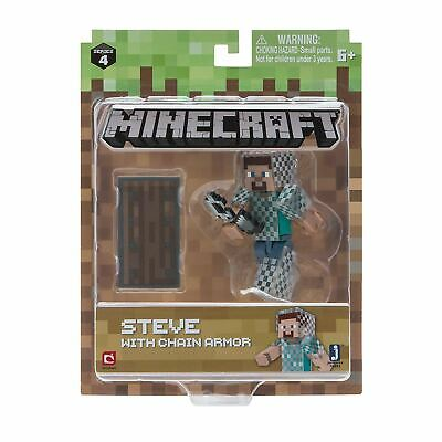 Minecraft Steve With Chain Armor Pack Series 4 Action Figure
