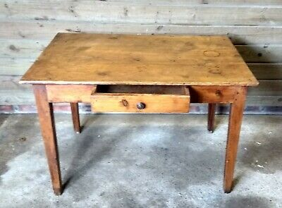 A Nice 19th Century French Country Pine Farmhouse Table...