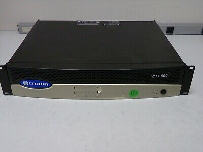 CROWN CTs 600 Black Two-Channel Power Amplifier w/ Power Cord
