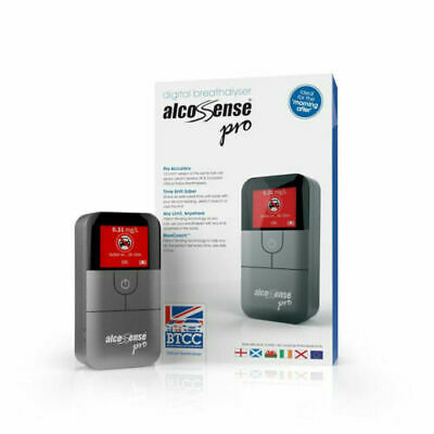 AlcoSense Pro Electronic Breathalyser with Pack of 25 Mouthpieces