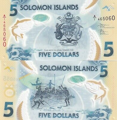 Solomon Islands.2019.$5 Polymer,Unc Banknotes,(1)